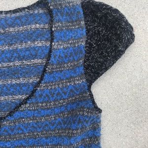 Free People Sweaters - FREE PEOPLE KNIT SWEATER TOP striped Black BLUE M